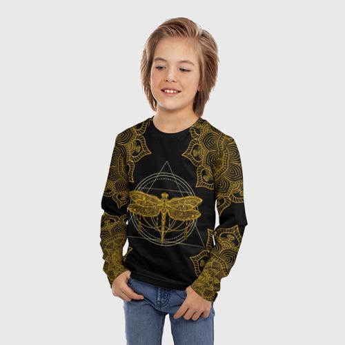 Детский лонгслив 3D Golden dragonfly Фото 01