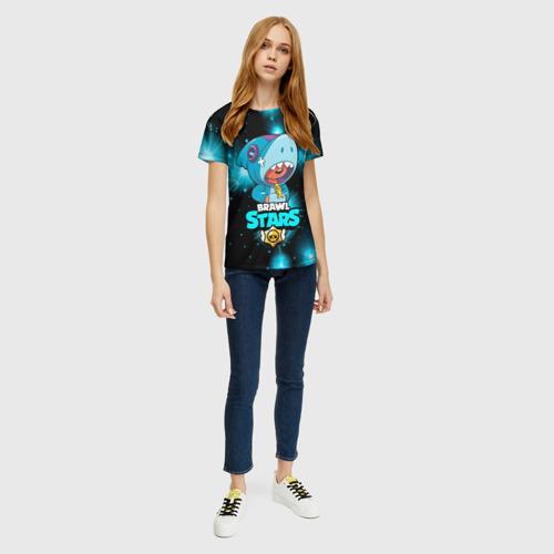 Женская футболка 3D Brawl stars leon shark. Фото 01