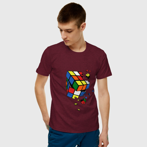 Мужская футболка хлопок Кубик Рубика Фото 01