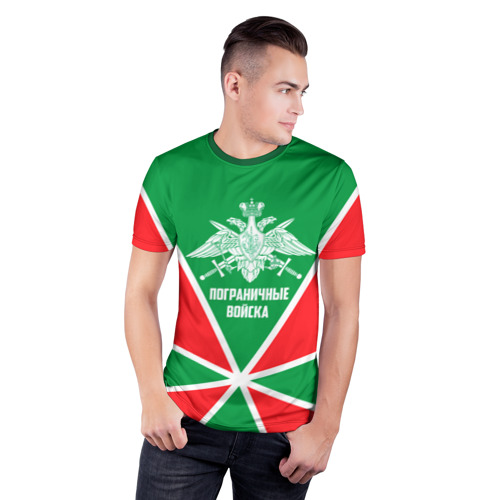 Мужская футболка 3D спортивная Пограничные Войска Фото 01