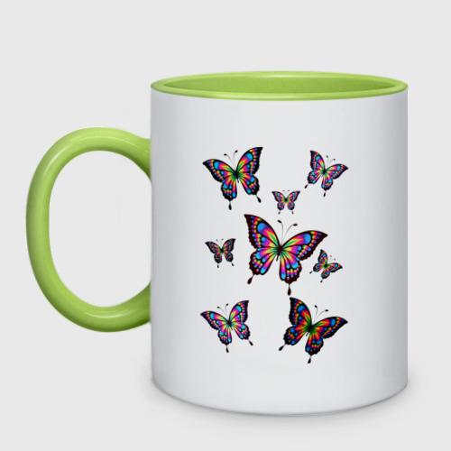 Кружка двухцветная Бабочки Фото 01