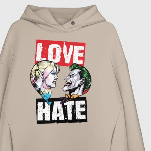 Женское худи Oversize хлопок Love Hate Фото 01