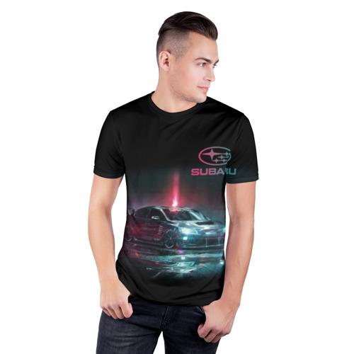 Мужская футболка 3D спортивная СУБАРУ | SUBARU STI (+Спина) Фото 01