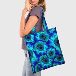 Голубые хризантемы