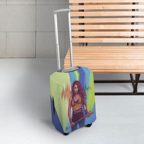 Чехол для чемодана 3D Черная Канарейка Фото 01