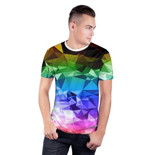 Мужская футболка 3D спортивная COLORS Фото 01