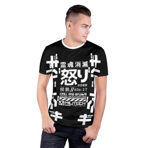 Мужская футболка 3D спортивная Cyperpunk 2077 Japan tech Фото 01