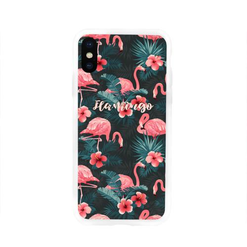 Чехол для iPhone X глянцевый Flamingo Фото 01