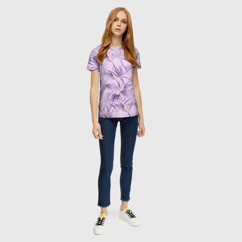 Женская футболка 3D Листья Фото 01