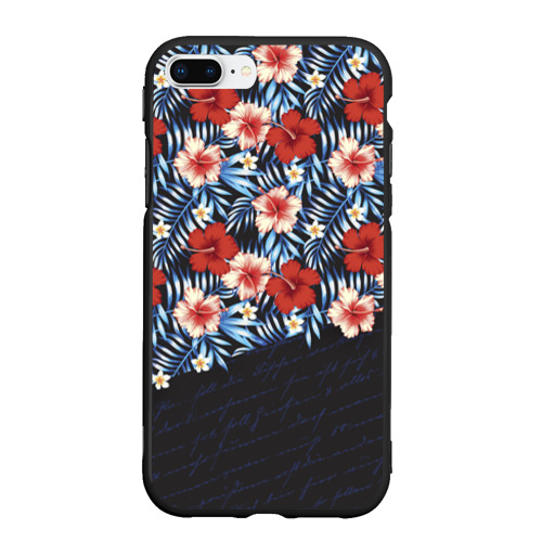 Чехол для iPhone 7Plus/8 Plus матовый Flowers with inscriptions Фото 01