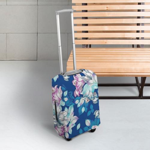 Чехол для чемодана 3D Нежные цветы Фото 01