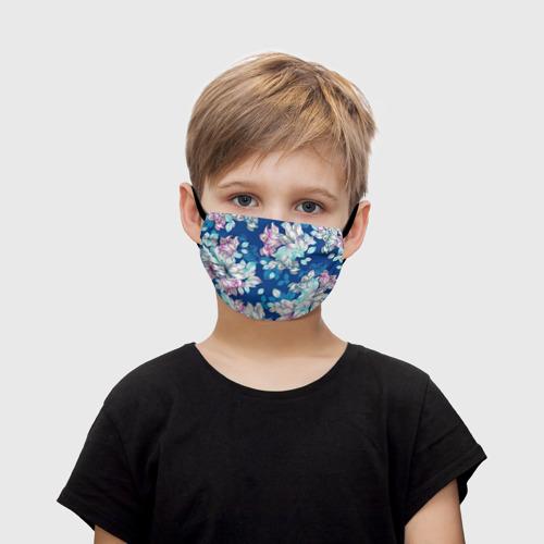 Детская маска (+5 фильтров) Нежные цветы Фото 01