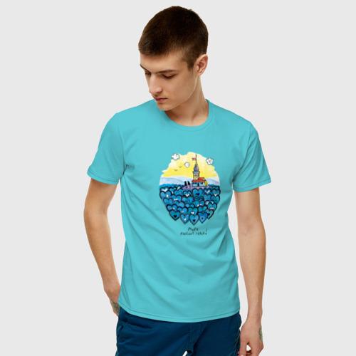 Мужская футболка хлопок Море любит тебя! Фото 01