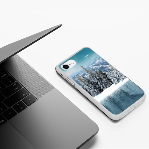 Чехол для iPhone 7/8 матовый Зимний лес Фото 01