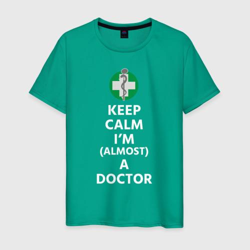 Мужская футболка хлопок keep calm I'm  a doctor Фото 01
