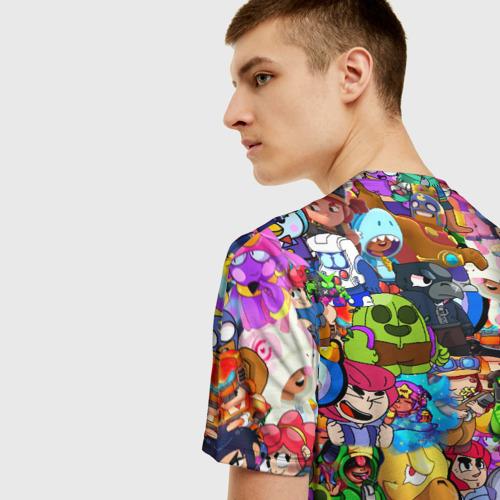 Мужская футболка 3D BRAWL STATS ВСЕ ПЕРСОНАЖИ Фото 01