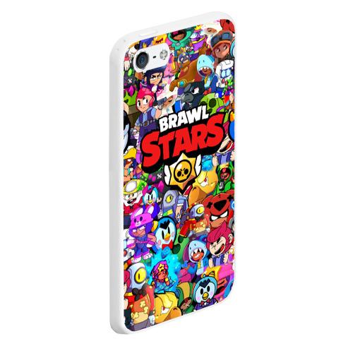 Чехол для iPhone 5/5S матовый BRAWL STARS Фото 01