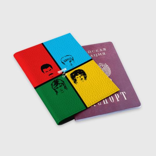 Обложка для паспорта матовая кожа Queen Фото 01