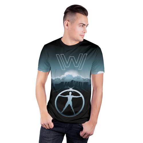 Мужская футболка 3D спортивная Westworld Landscape Фото 01