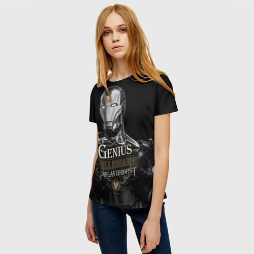 Женская футболка 3D Гений, миллиардер, филантроп Фото 01