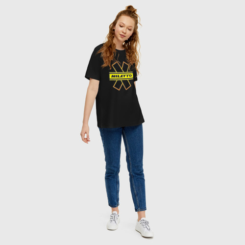 Женская футболка хлопок Oversize NILETTO Фото 01