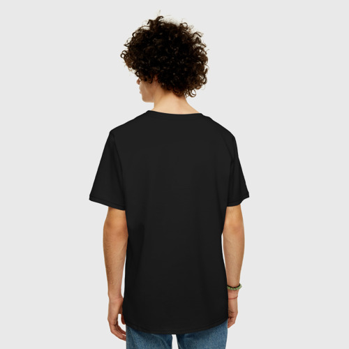 Мужская футболка хлопок Oversize Тихиро и дракон голубой Фото 01