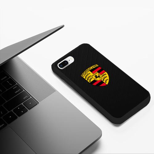 Чехол для iPhone 7Plus/8 Plus матовый PORSCHE | ПОРШ Фото 01