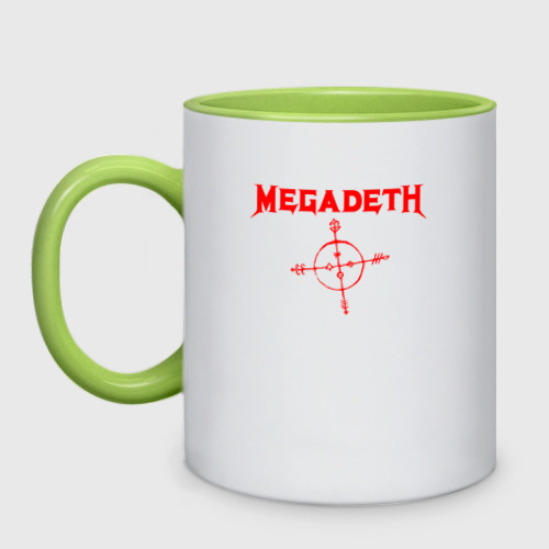 Кружка двухцветная Megadeth One фото