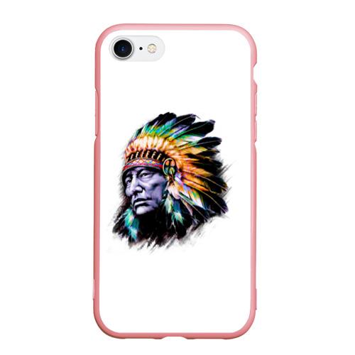 Чехол для iPhone 7/8 матовый Индеец Фото 01