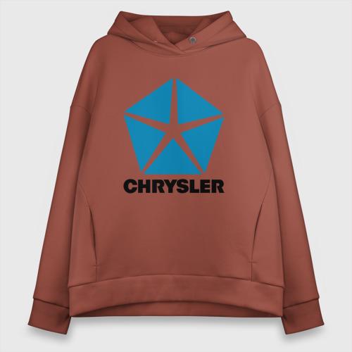 Женское худи Oversize хлопок Chrysler | Крайслер Фото 01
