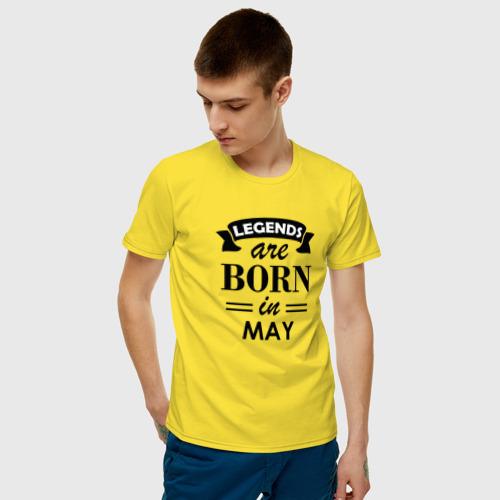 Мужская футболка хлопок Legends are born in May Фото 01