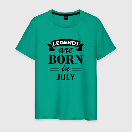 Мужская футболка хлопок Legends are born in july Фото 01