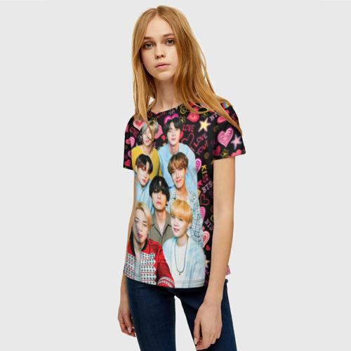 Женская футболка 3D I Love BTS Фото 01