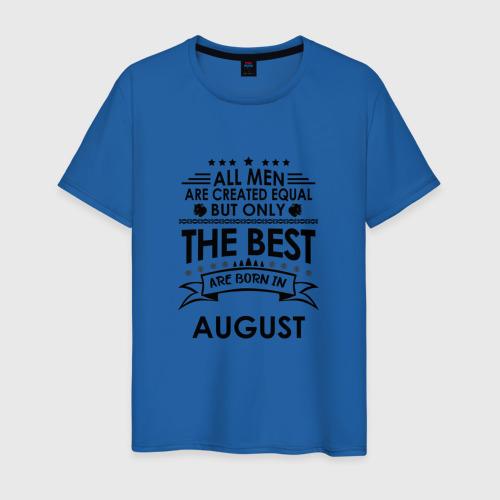 Мужская футболка хлопок Лучшие рождаются в августе Фото 01