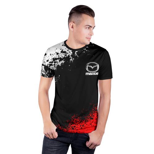 Мужская футболка 3D спортивная MAZDA   МАЗДА (Z) Фото 01