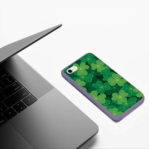 Чехол для iPhone 6/6S матовый Ирландский клевер Фото 01