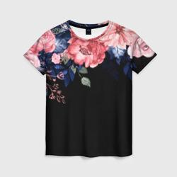цветы на черном