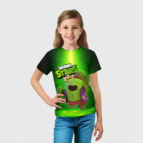 Детская футболка 3D brawn stars Spike Спайк Фото 01