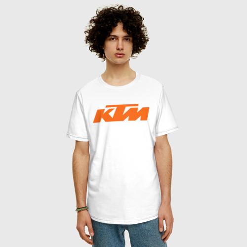 Мужская футболка хлопок Oversize KTM   КТМ Лого Фото 01
