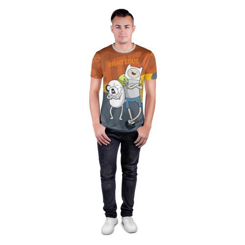 Мужская футболка 3D спортивная Финн и Джейк Фото 01