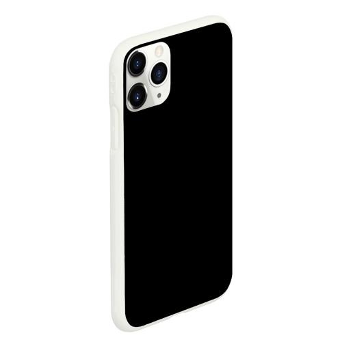 Чехол для iPhone 11 Pro Max матовый ЧЁРНАЯ МАСКА Фото 01