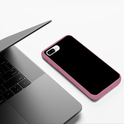 Чехол для iPhone 7Plus/8 Plus матовый ЧЁРНАЯ МАСКА Фото 01