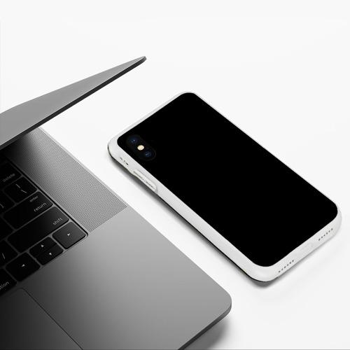 Чехол для iPhone XS Max матовый ЧЁРНАЯ МАСКА Фото 01