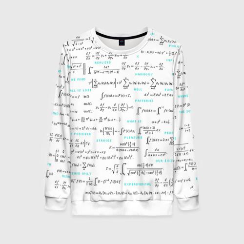 Женский свитшот 3D Математические формулы Фото 01