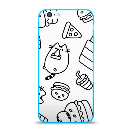 Чехол для iPhone 6/6S глянцевый КОТИКИ ЕДА Фото 01