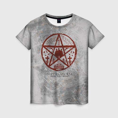 Женская футболка 3D Supernatural Фото 01
