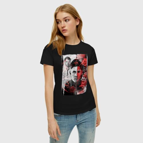 Женская футболка хлопок Supernatural Фото 01