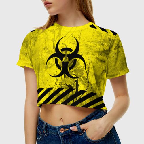 Женская футболка Crop-top 3D nCoV. Фото 01