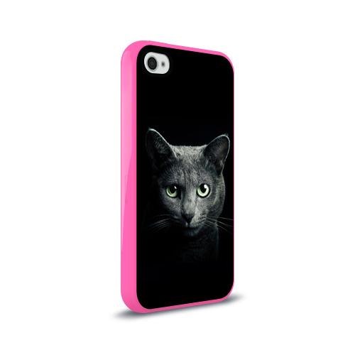 Чехол для Apple iPhone 4/4S силиконовый глянцевый Кот Фото 01