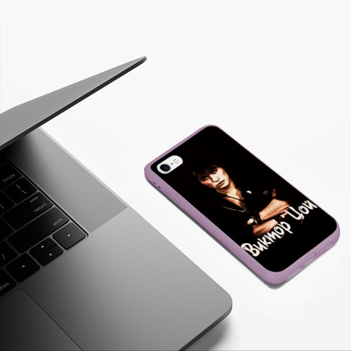 Чехол для iPhone 6/6S матовый ЦОЙ Фото 01